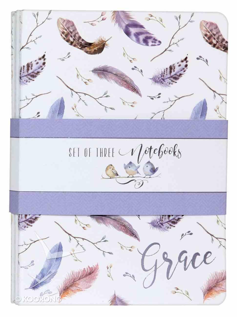 Notebook: Grace, Feathers/Birds Nest (Set Of 3) Paperback