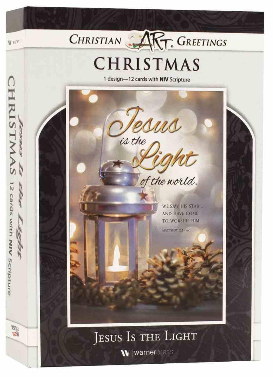 Christmas Boxed Cards: Jesus is the Light, Silver Lantern (Matt 2:2 Niv) Box