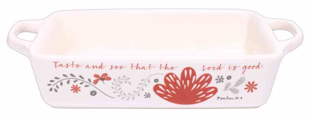 Ceramic Bakeware: Taste and See That the Lord is Good, White/Red/Black (Scribbles Kitchen Collection) Homeware