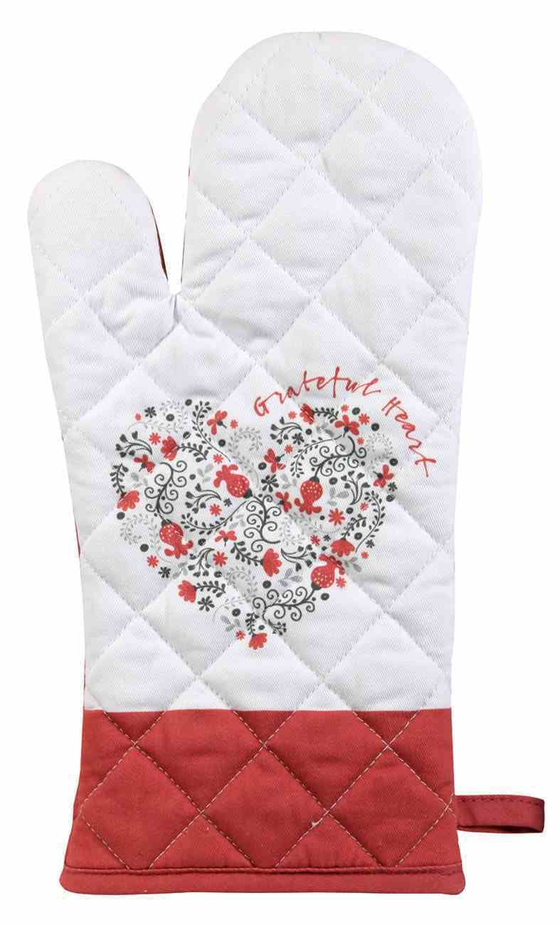 Quilted Oven Mitt: Grateful Heart (Scribbles Kitchen Collection) Homeware