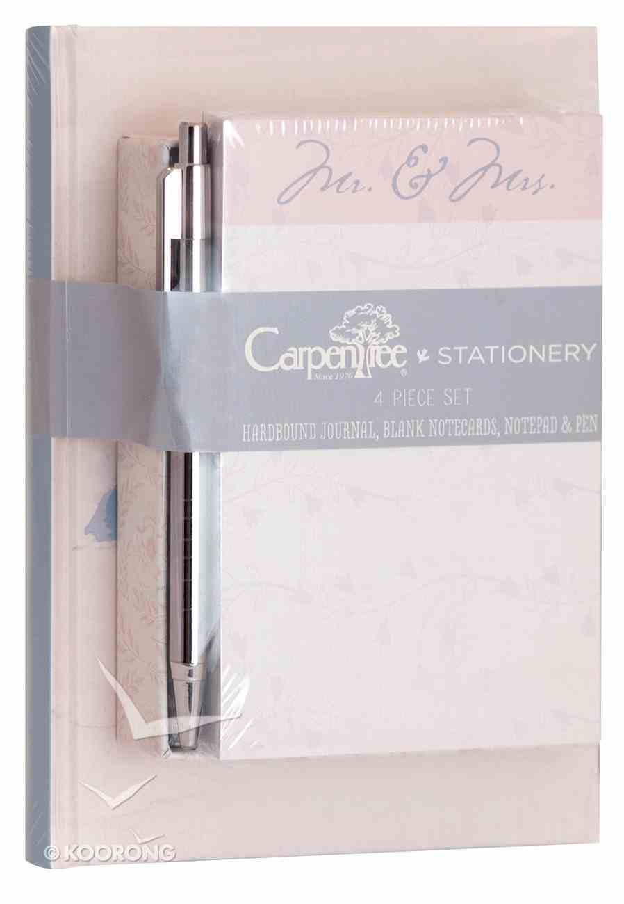 4 Piece Stationery Set: Journal, Blank Notecards, Notepad & Pen, Happily Ever After Stationery