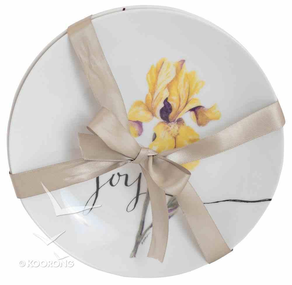 Ceramic Salad Plates Set of 4: Fruit of the Spirit, Love, Joy, Peace, Patience Homeware