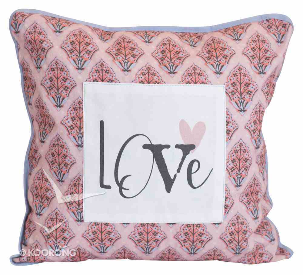 Love Collection Pillow: Love, Pink/White/Black Soft Goods