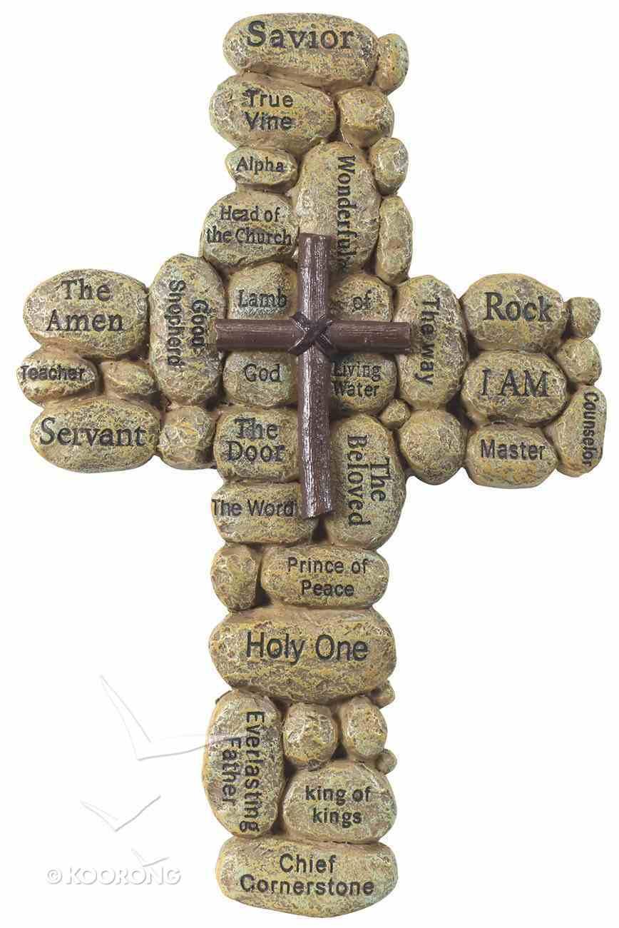 Resin Cross Stones: Names of Jesus Plaque