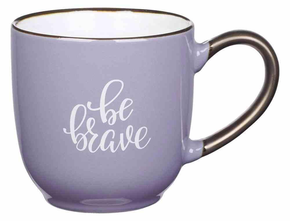 Ceramic Mug: Be Brave, Purple, 296 Ml (Be Brave Grateful Joyful Series) Homeware