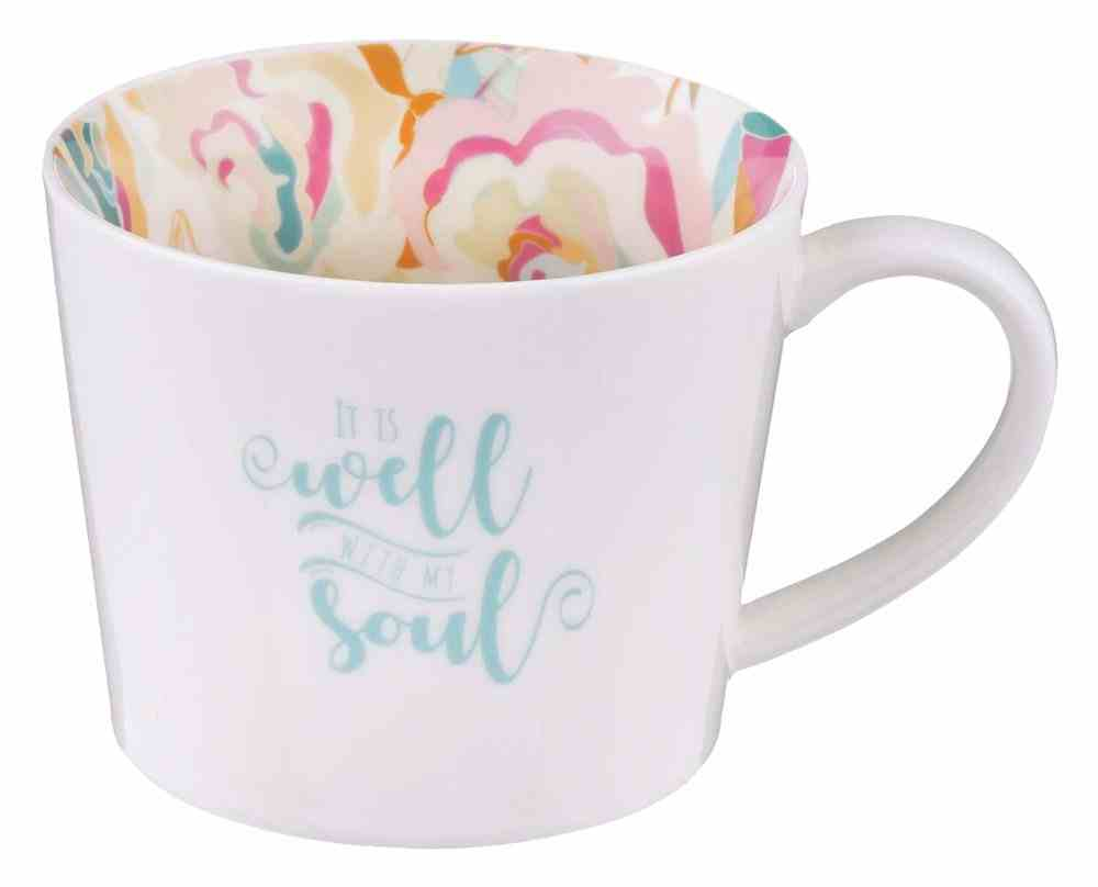 Ceramic Mug It is Well, White With Interior Design (384ml) (Well With My Soul Collection) Homeware