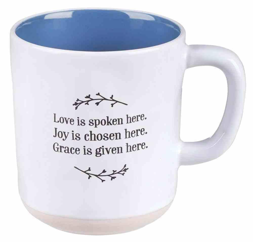 Ceramic Mug : Love Joy Grace, Navy Interior (355ml) (Love Joy Grace Collection) Homeware