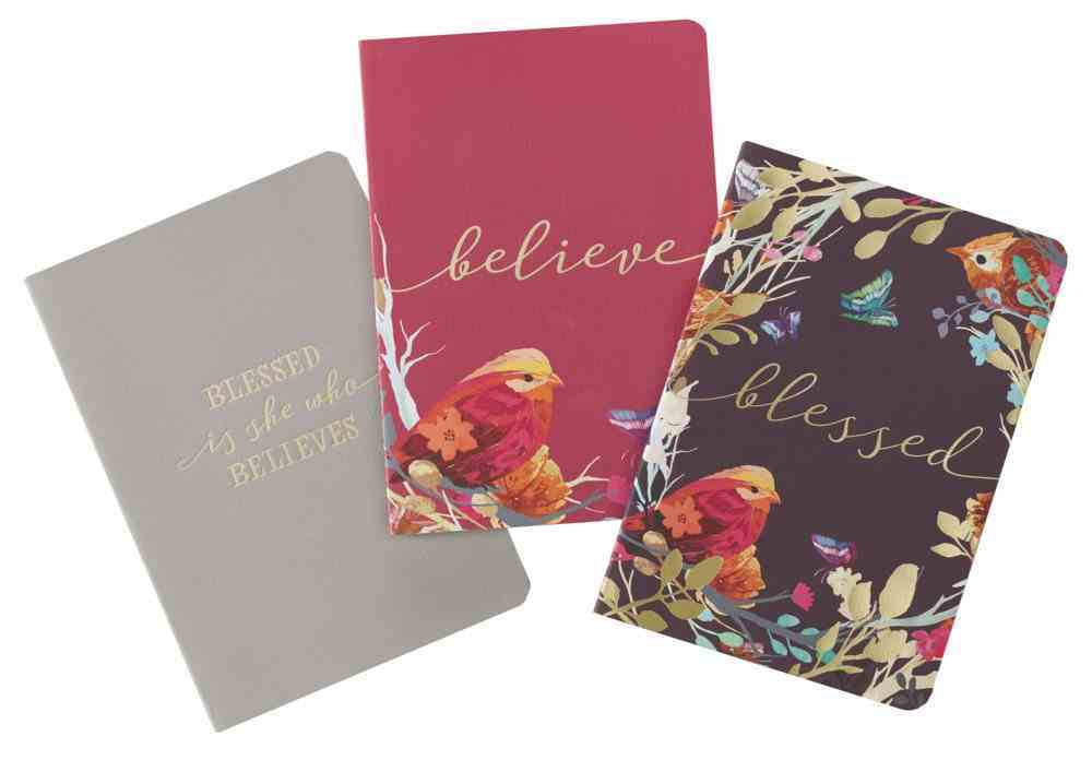 Notebook : Blessed is She, Eggplant/Burgundy/Gray (Set of 3) (Blessed Is She Collection) Paperback
