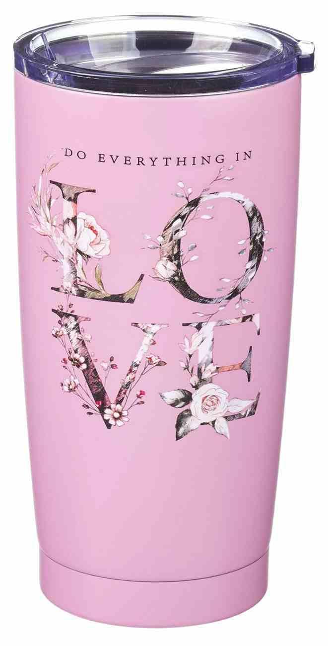Stainless Steel Mug: Love, Pink, 591 ML (Do Everything In Love Series) Homeware