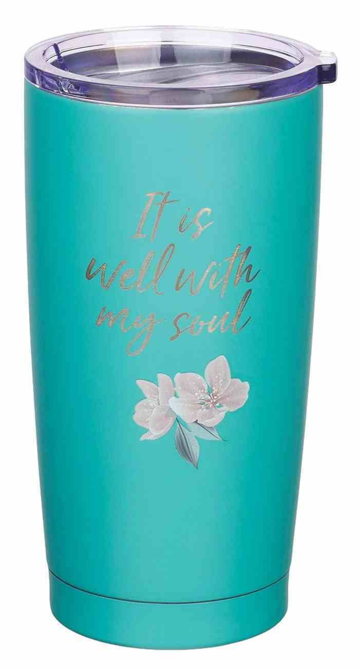 Stainless Steel Mug: It is Well, Teal, 591 ML (It Is Well Collection) Homeware