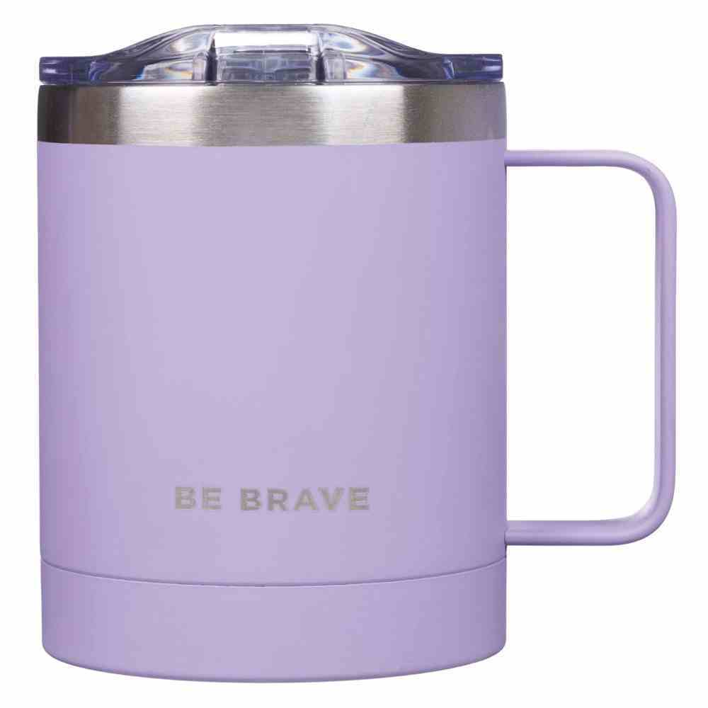 Camp Style Stainless Steel Mug: Be Brave, Purple (325ml) (Be Kind Still Brave Collection) Homeware