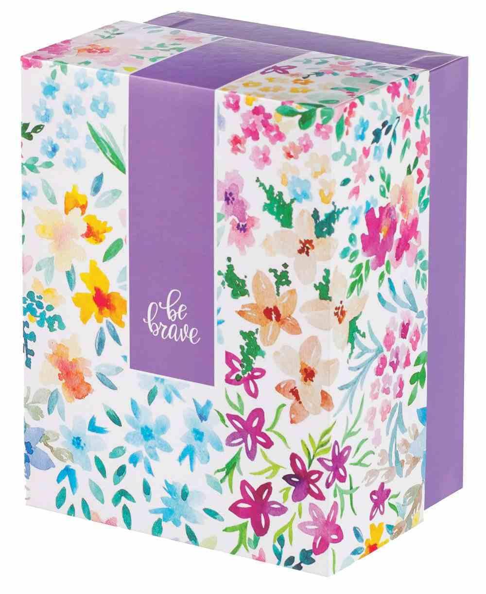 Boxed Gift Set: Be Brave Journal, Keyring and Ceramic Mug Purple (296ml) Pack