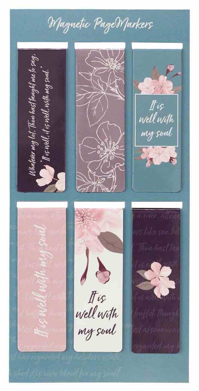Bookmark Magnetic : It is Well, Navy, Lavender, Teal (Set of 6) (It Is Well Collection) Stationery