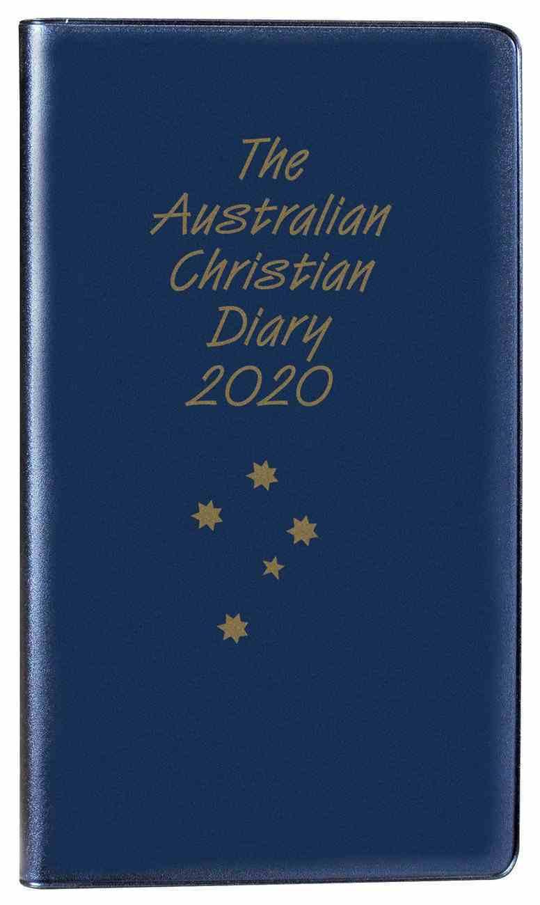 2020 Australian Christian Diary Blue Paperback