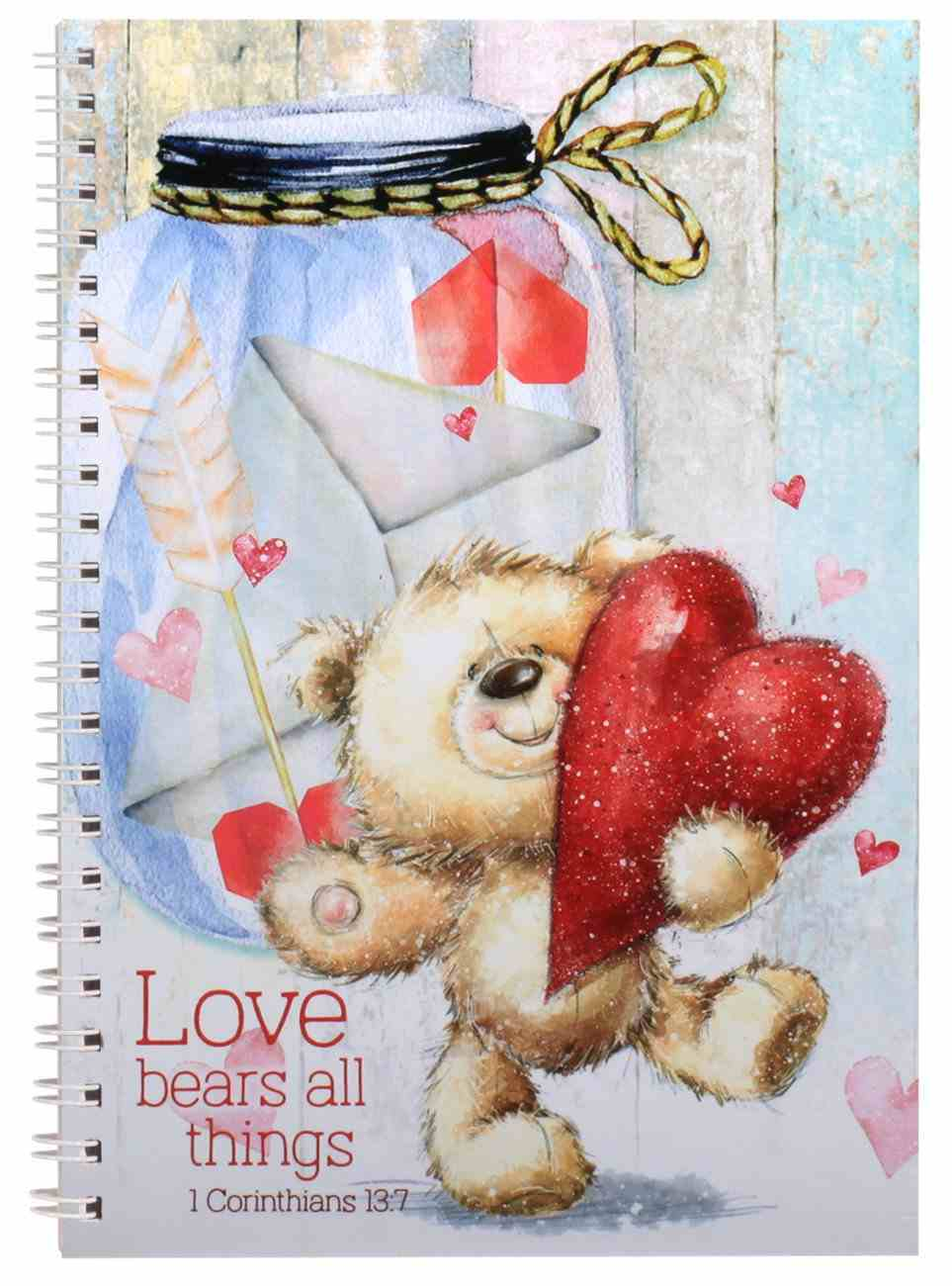 Spiral Softcover Journal: Love Bears All Things Spiral