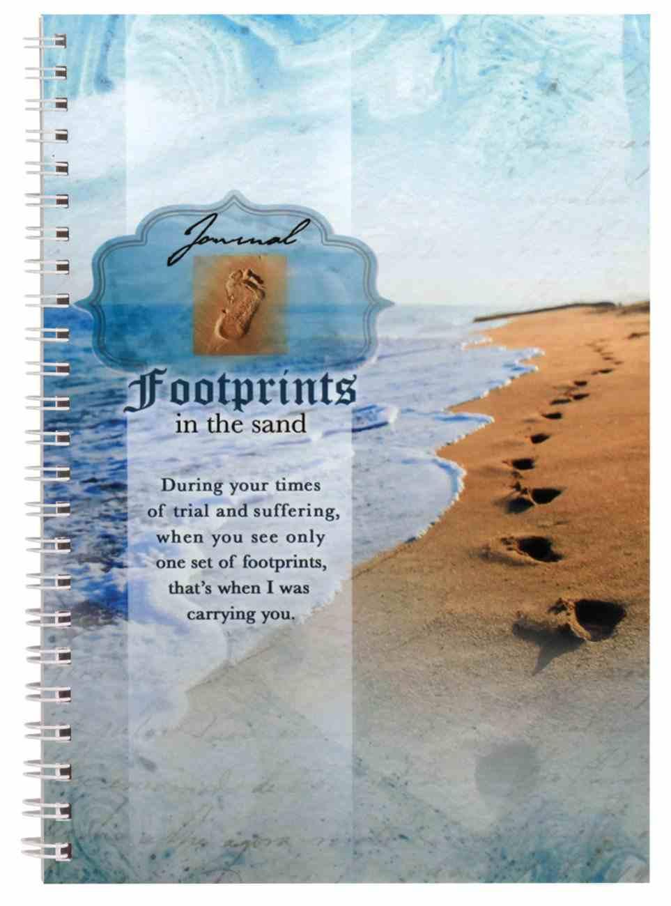 Spiral Softcover Journal: Footprints Spiral