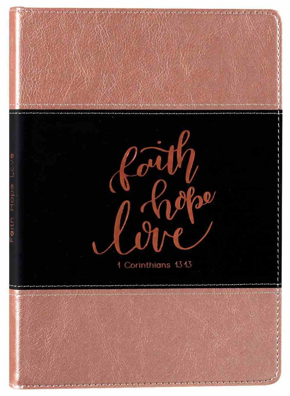 Leather Lux Journal: Faith Hope Love Imitation Leather