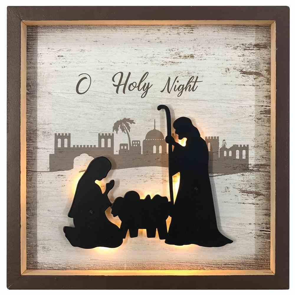 Christmas Mdf/Metal Light Up Shadow Box: O Holy Night Homeware