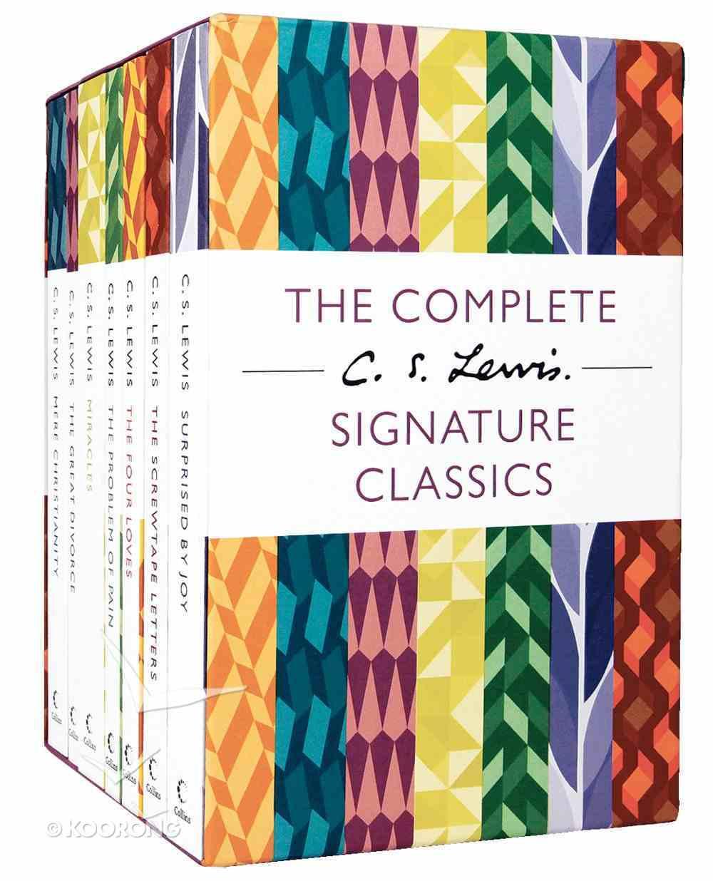 Lewis Signature Classics 7 Book Boxed Set Box