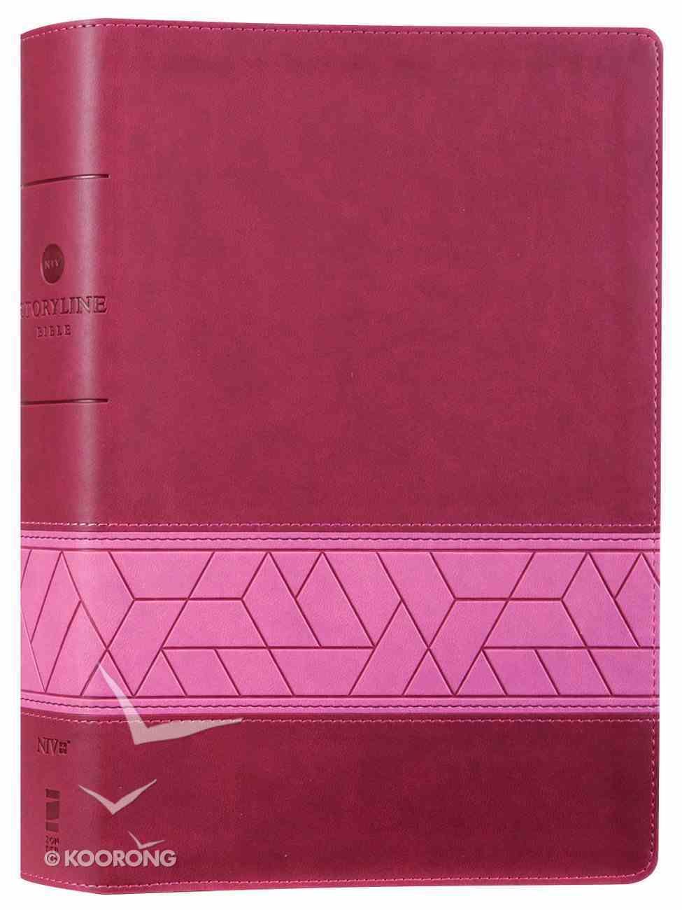 NIV Storyline Bible Pink Premium Imitation Leather