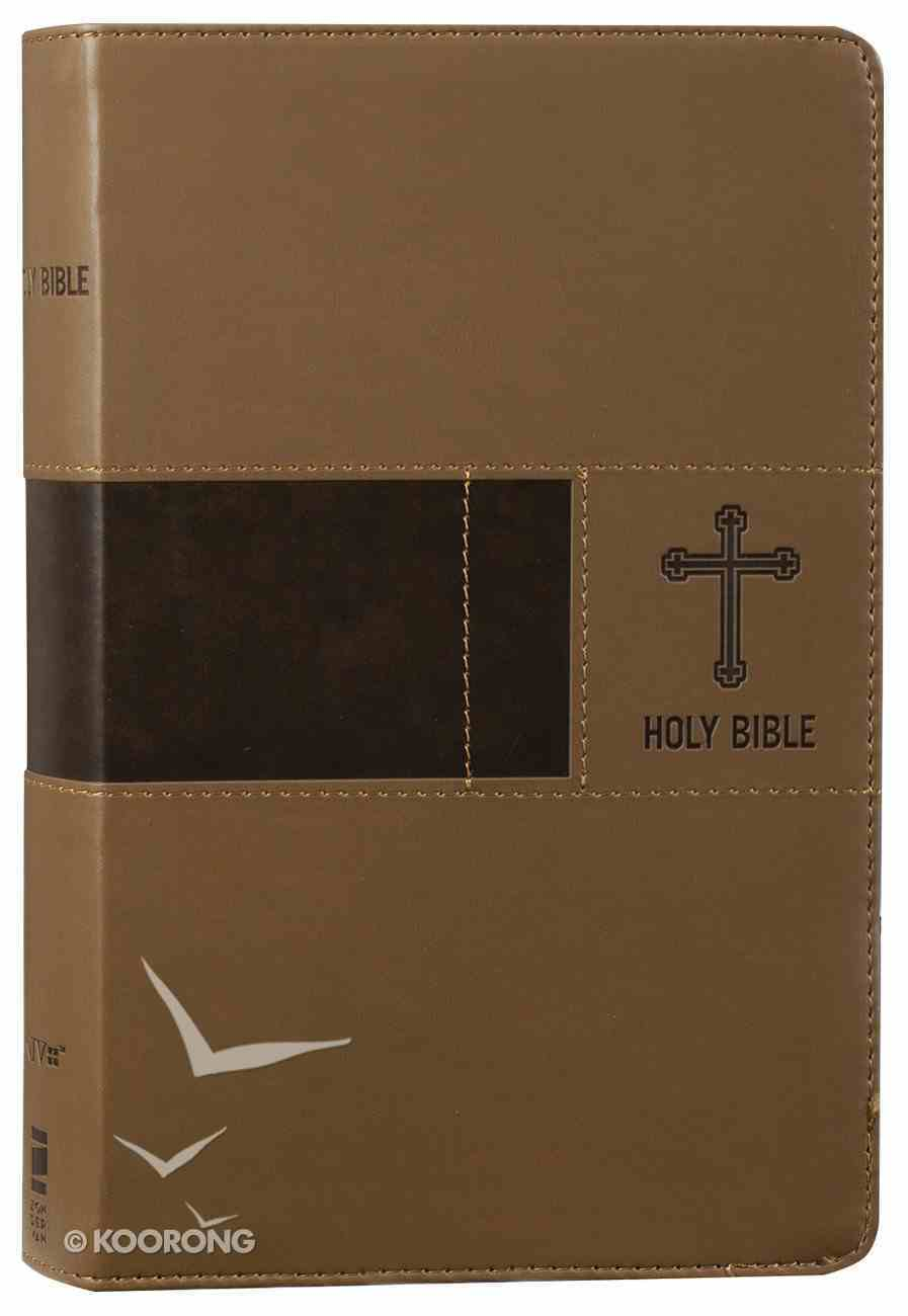 NIV Premium Gift Bible Brown (Red Letter Edition) Premium Imitation Leather