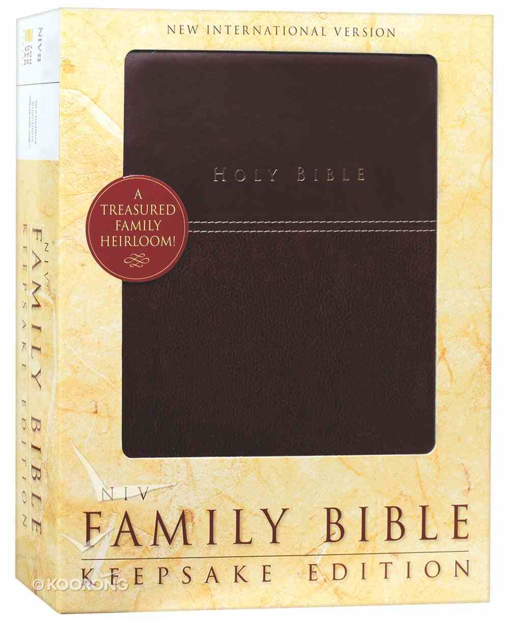 NIV Family Bible Keepsake Edition Burgundy (Red Letter Edition) Premium Imitation Leather