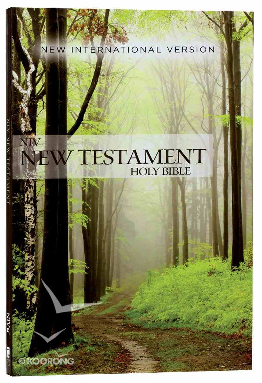 NIV Outreach New Testament Green Forest Path (Black Letter Edition) Paperback