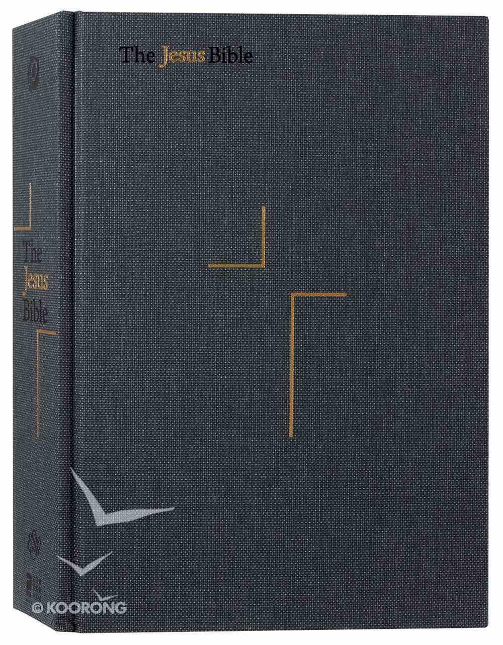 ESV the Jesus Bible Charcoal Fabric Over Hardback
