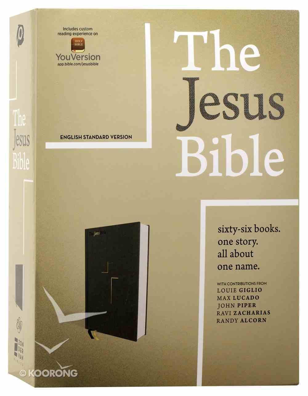 ESV the Jesus Bible Gray Fabric Over Hardback