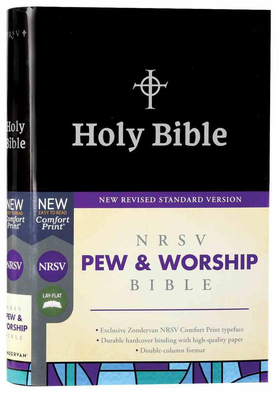 NRSV Pew and Worship Bible Black Hardback