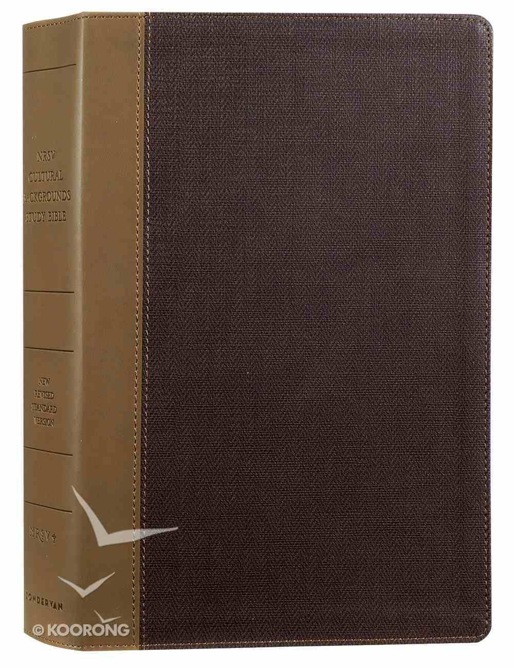 NRSV Cultural Backgrounds Study Bible Tan/Brown Premium Imitation Leather
