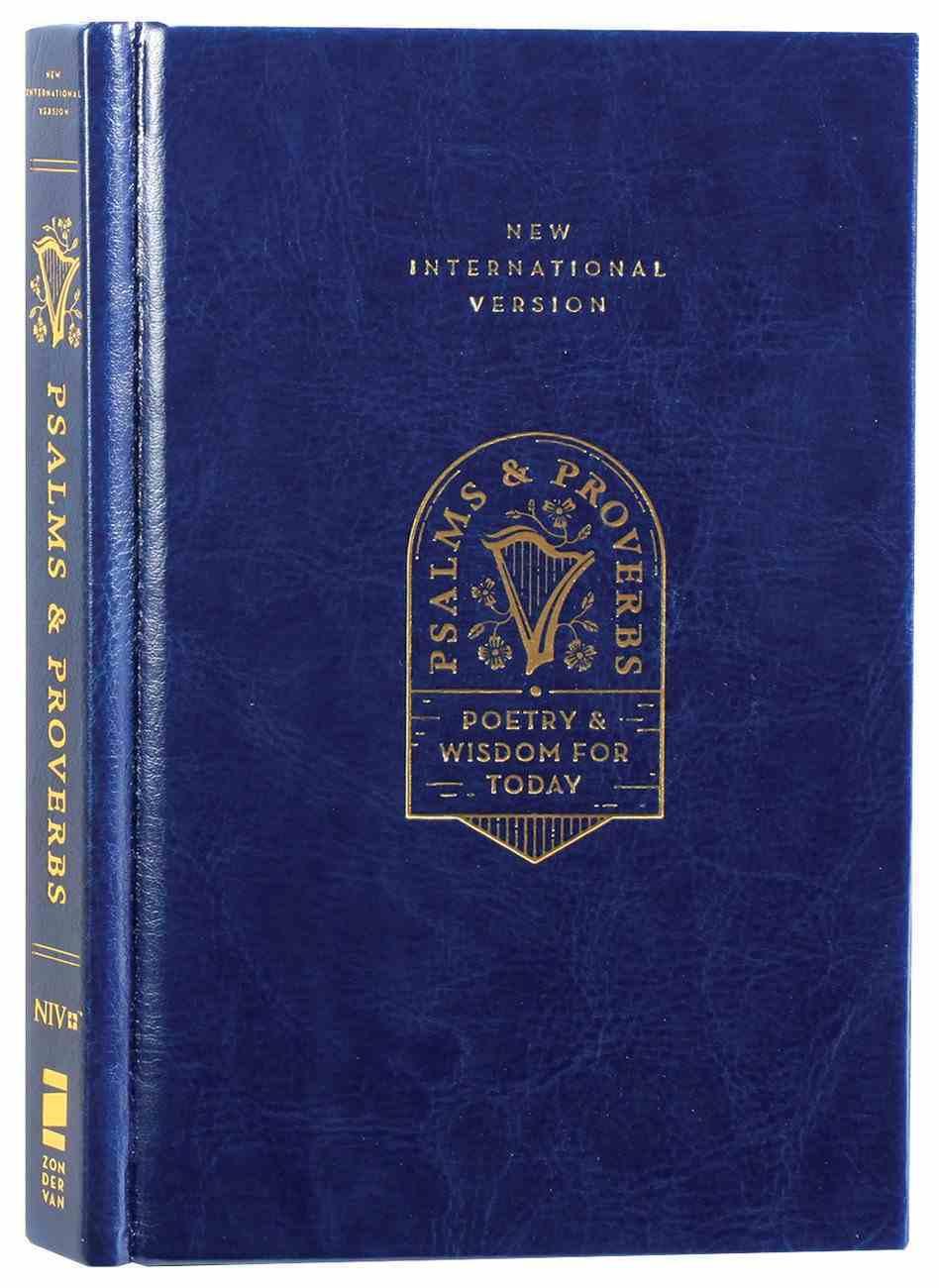 NIV Psalms and Proverbs Navy Hardback