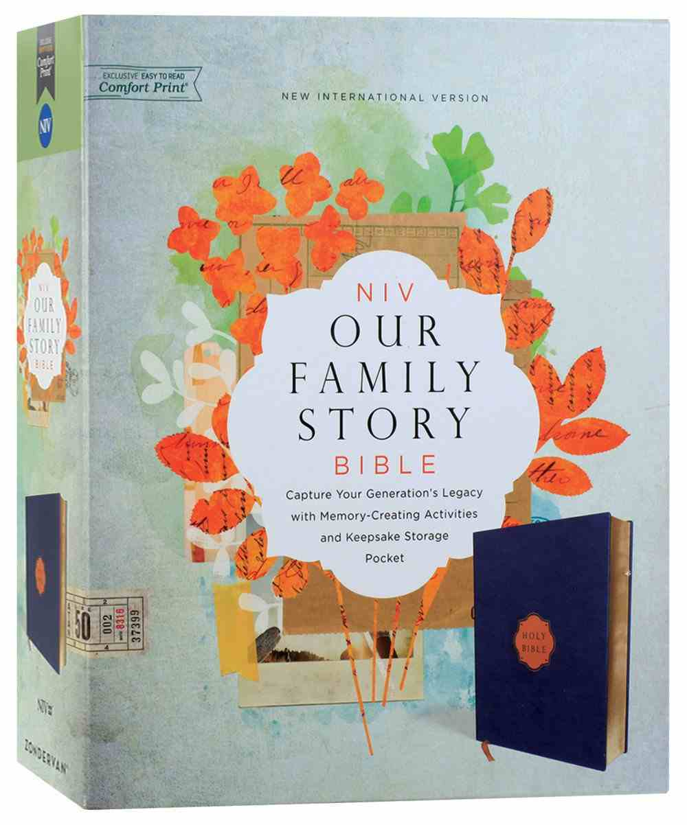 NIV Our Family Story Bible Navy (Red Letter Edition) Imitation Leather Over Hardback