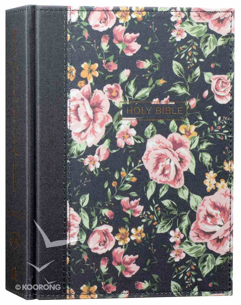 NKJV Journal the Word Bible Blue Floral (Red Letter Edition) Hardback