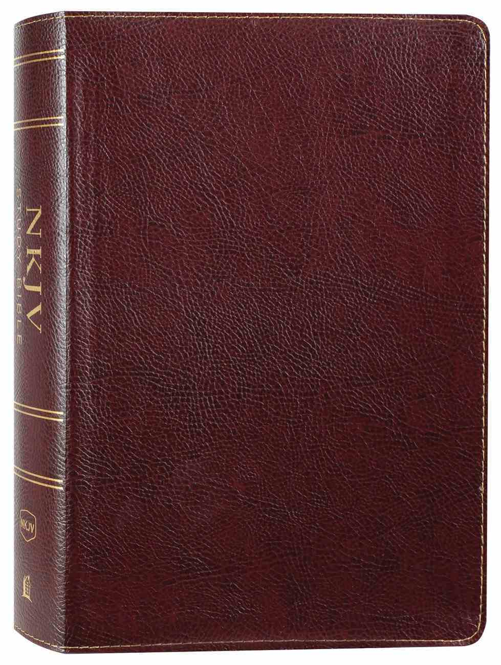 NKJV Study Bible Burgundy Full-Color (Black Letter Edition) Bonded Leather