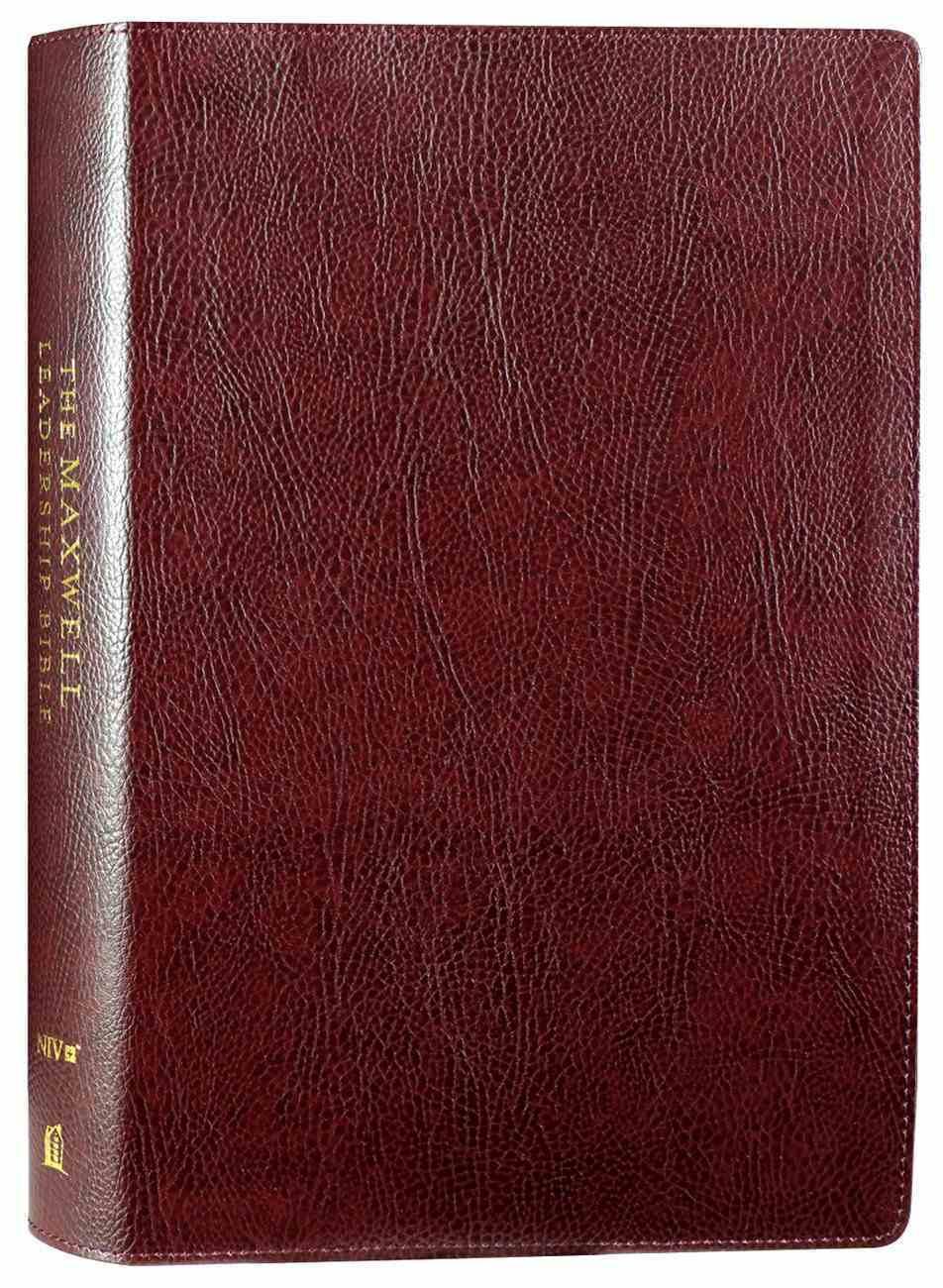 NIV Maxwell Leadership Bible Burgundy 3rd Edition Bonded Leather