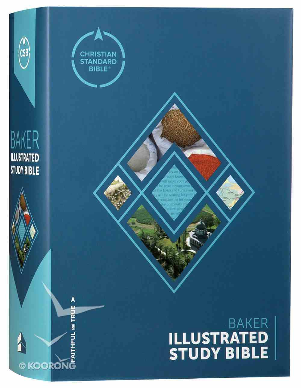 CSB Baker Illustrated Study Bible (Red Letter Edition) Hardback