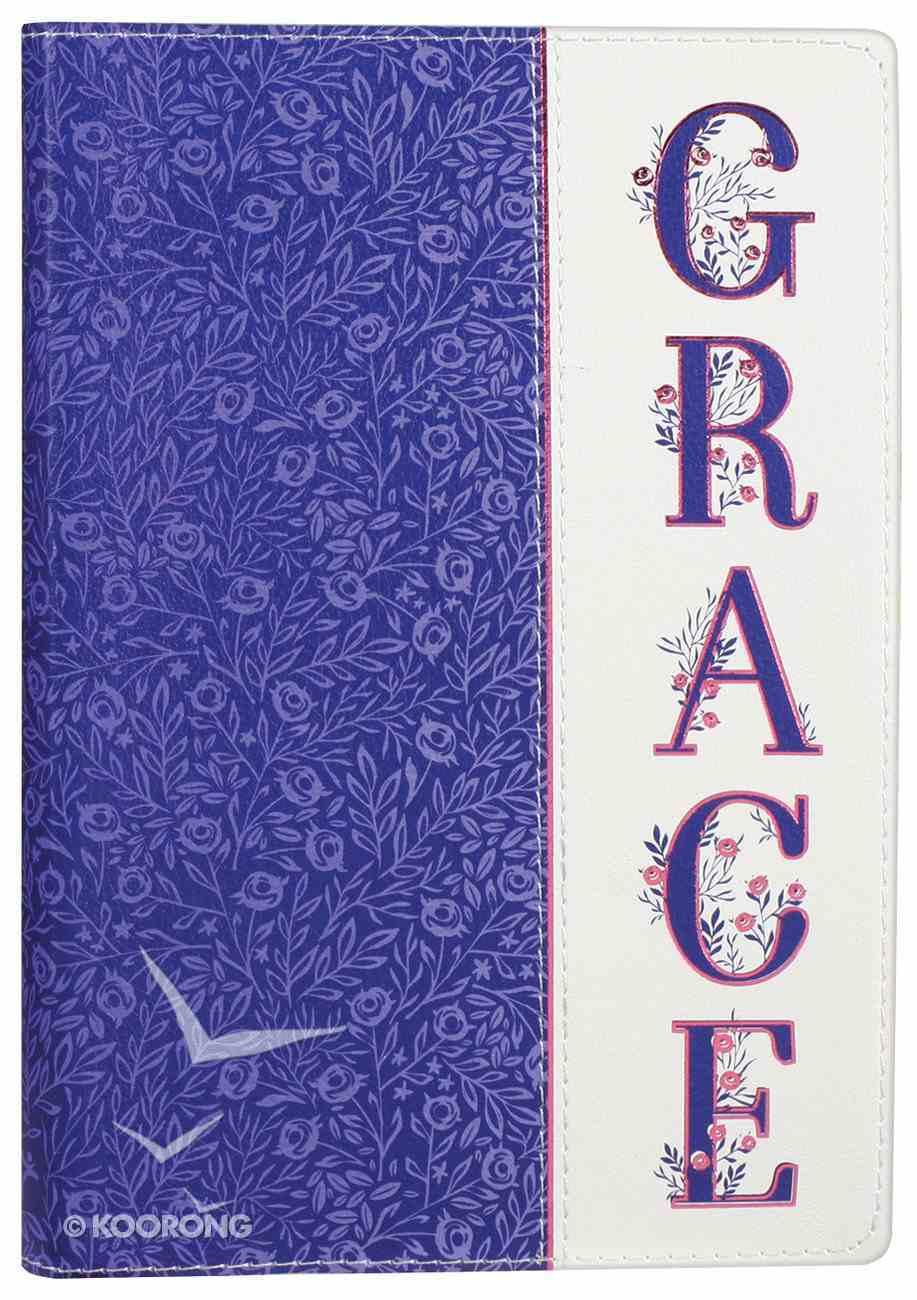 Journal: Grace, Purple Luxleather Stationery