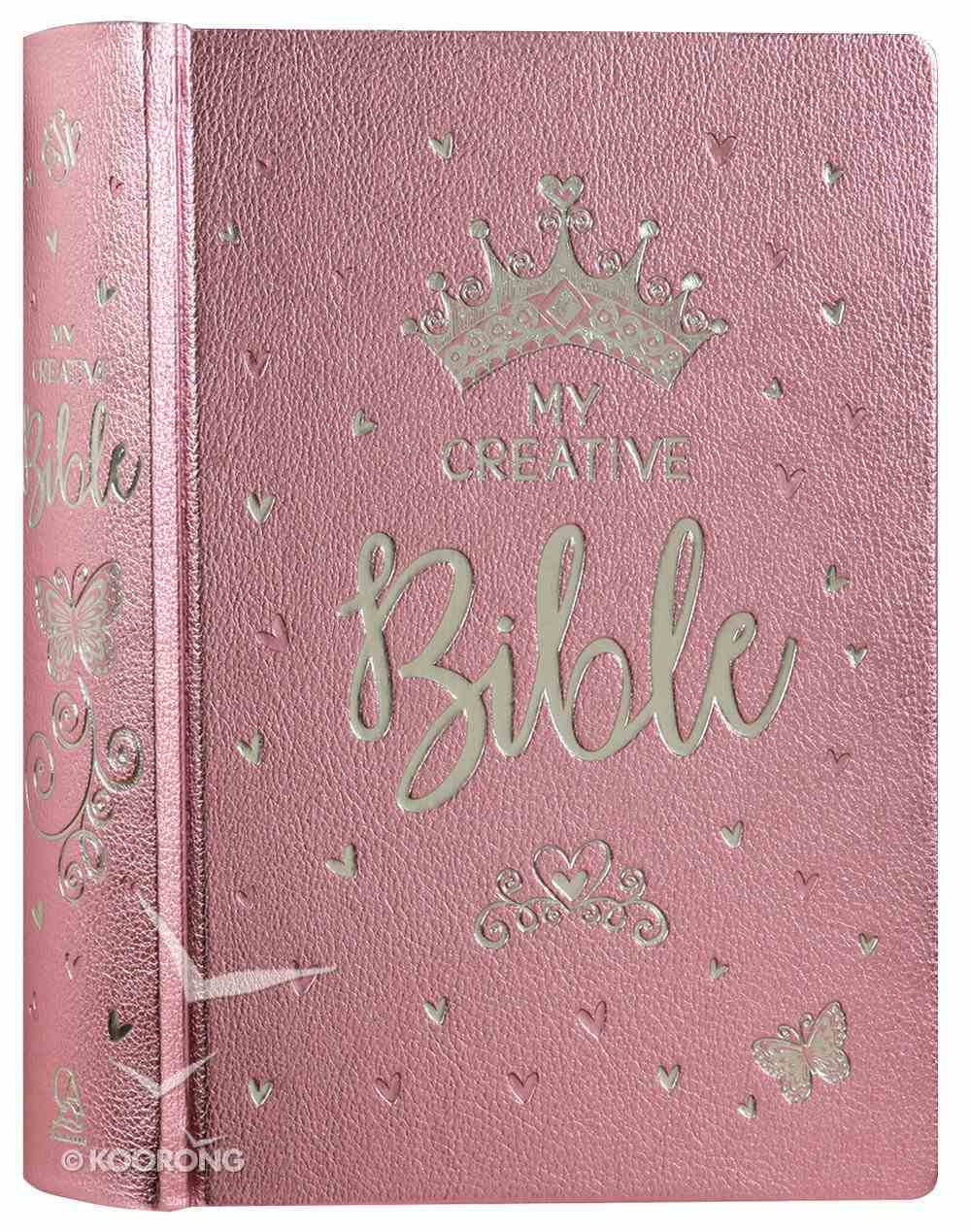 ESV My Creative Bible Pink Salsa Hardcover Luxleather Hardback