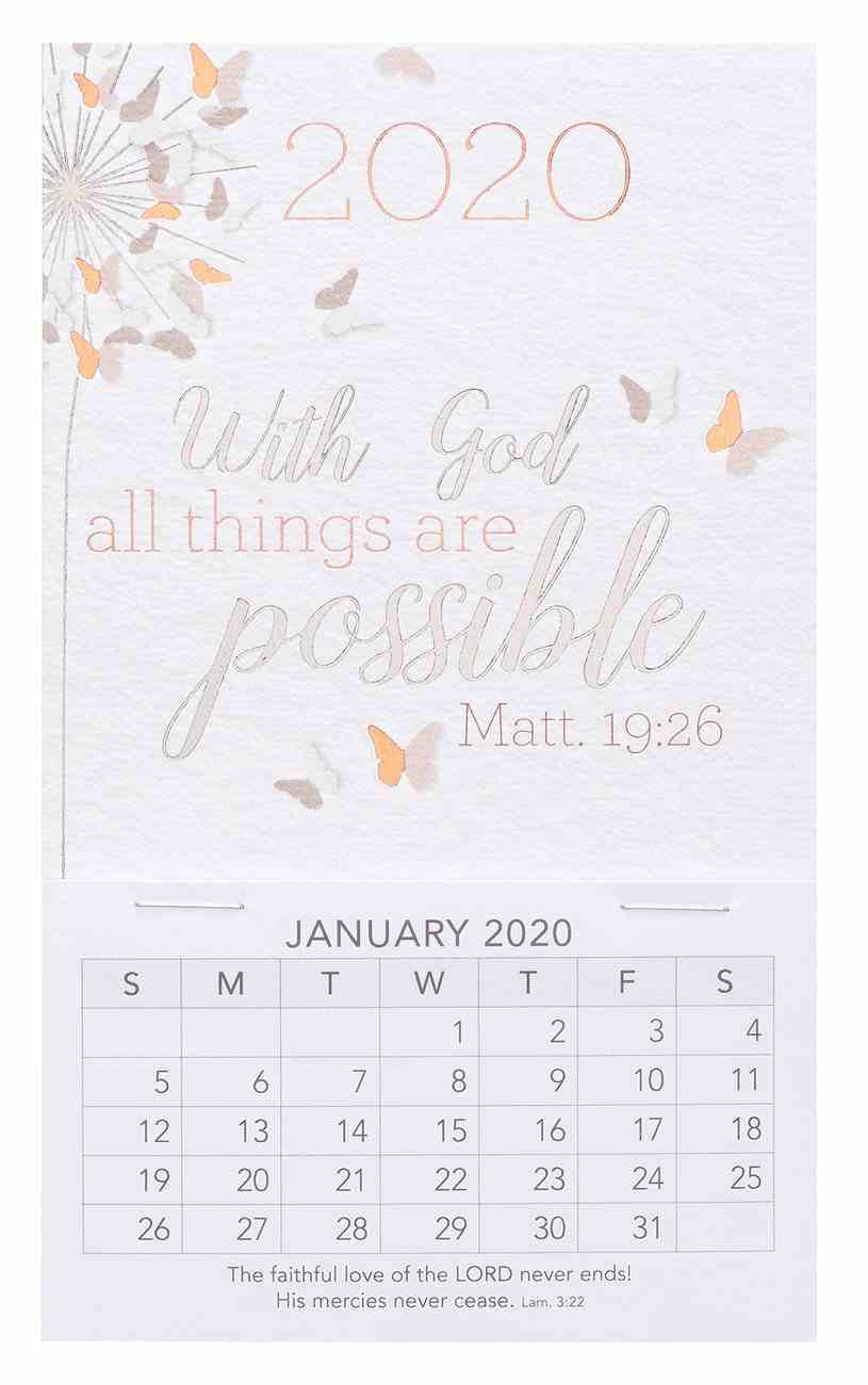 2020 Mini Magnetic Calendar: With God All Things Are Possible, Matt 19:26 Calendar