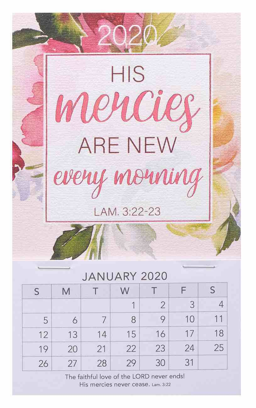 2020 Mini Magnetic Calendar: His Mercies Are New Every Morning, Lam 3:22-23 Calendar