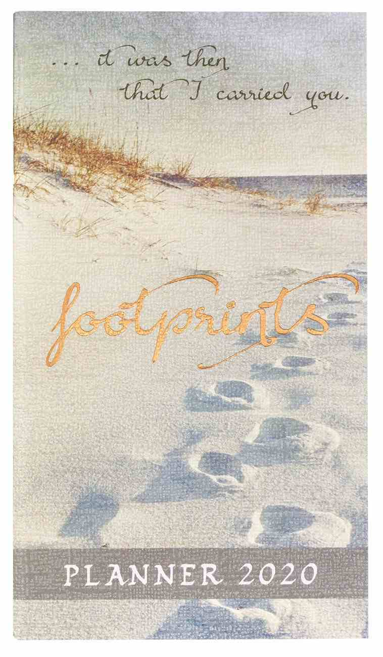 2020 Small 24-Month Daily Diary/Planner: Footprints Paperback