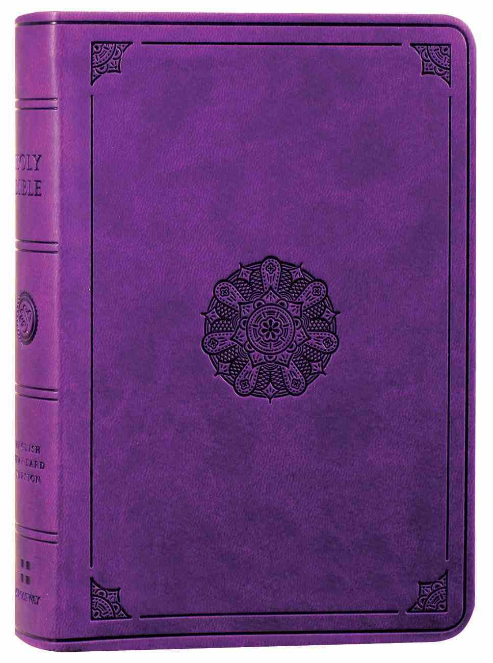 ESV Value Large Print Compact Bible Lavender Emblem Design (Black Letter Edition) Imitation Leather