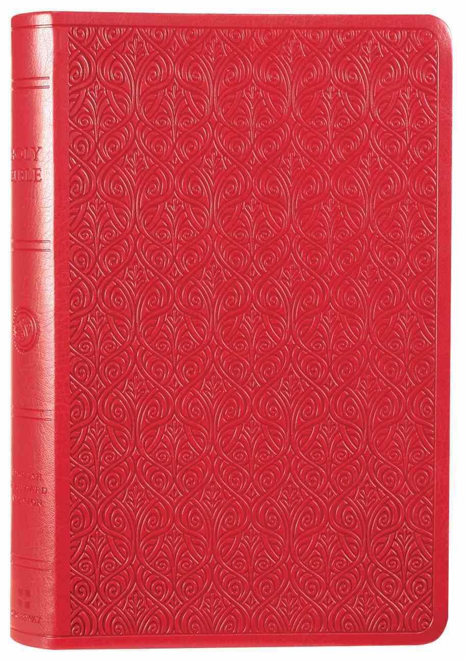 ESV Large Print Value Thinline Bible Ruby Vine Design Imitation Leather