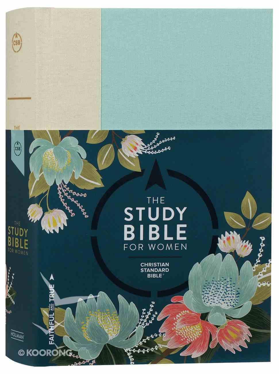 CSB Study Bible For Women Light Turquouise/Sand Hardback