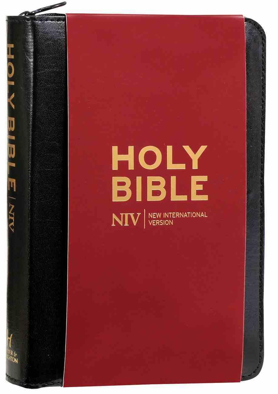 NIV Pocket Bible Black Bonded Leather With Zip Bonded Leather