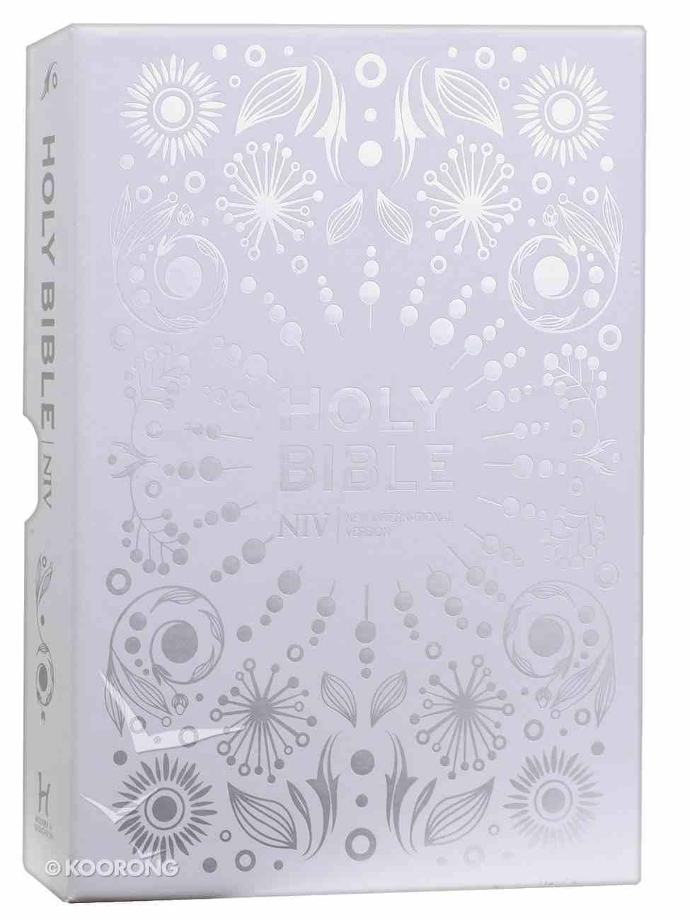 NIV Pocket White Gift Bible Hardback