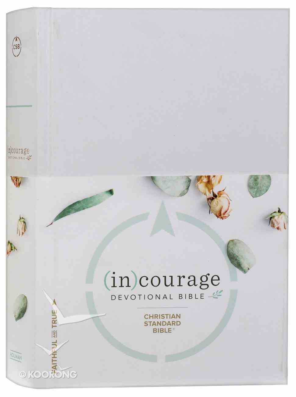 CSB (In)Courage Devotional Bible Gray (Black Letter Edition) Hardback