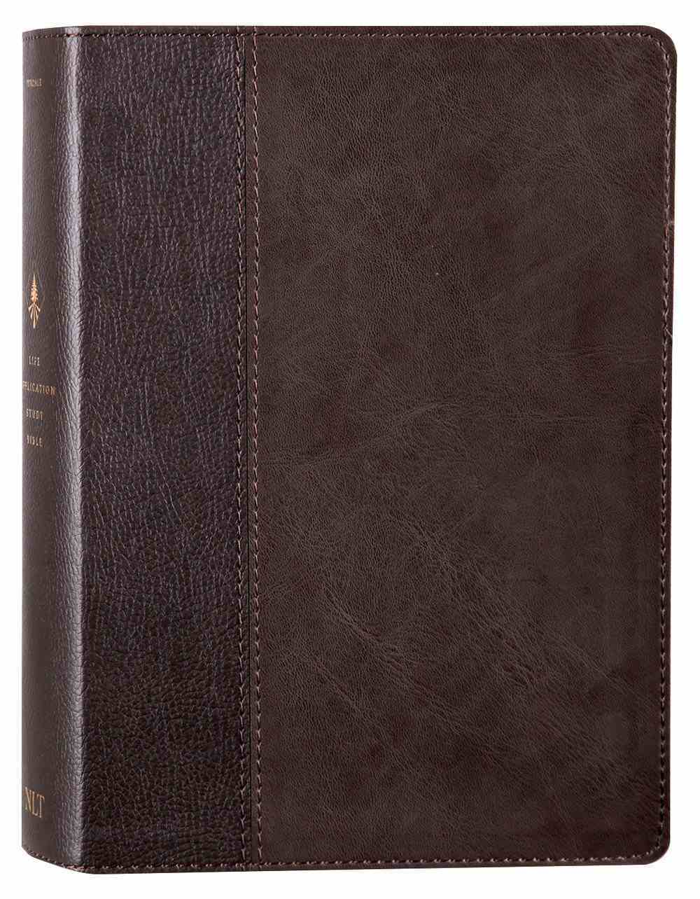 NLT Life Application Study Bible 3rd Edition Dark Brown/Brown (Black Letter Edition) Imitation Leather