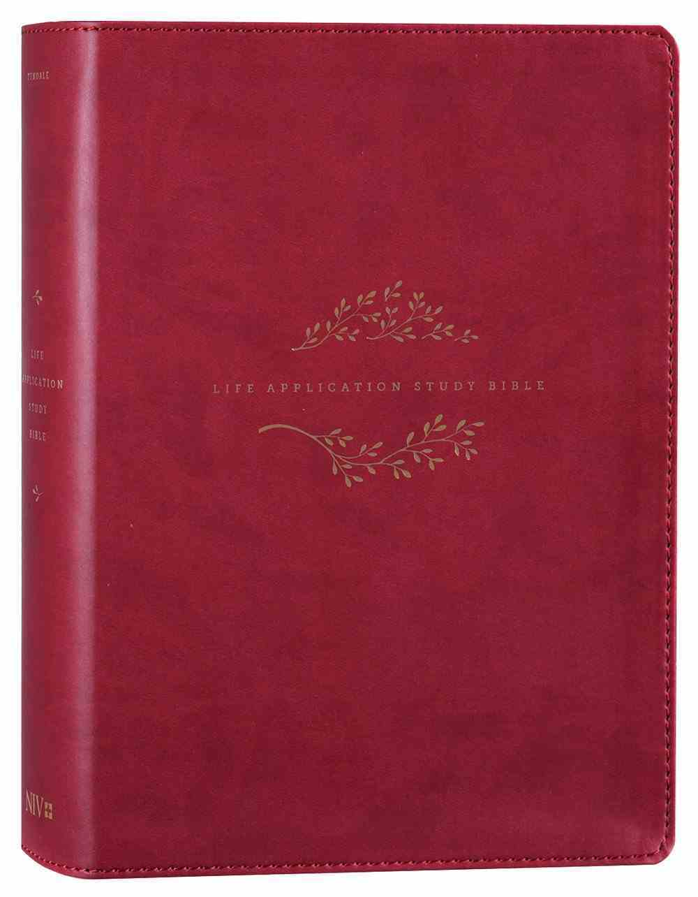 NIV Life Application Study Bible 3rd Edition Berry (Black Letter Edition) Imitation Leather